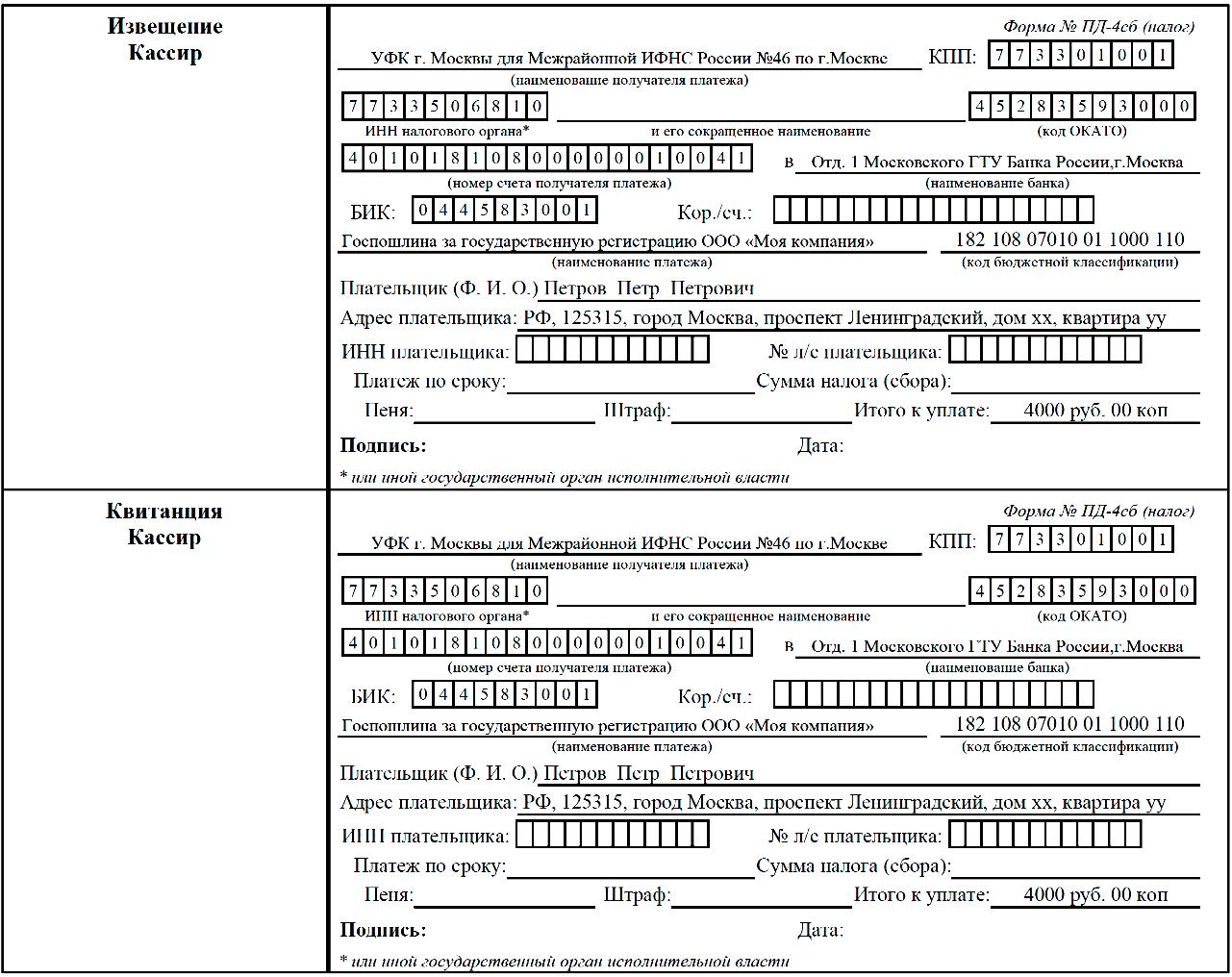 регистрация ооо документы налоговую